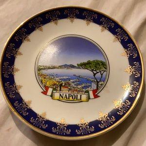 Vintage Naples hanging plate
